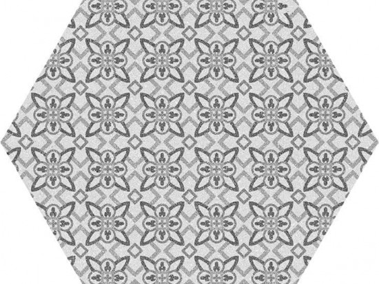 LUGANO HEX GRIS 22,5x25,9